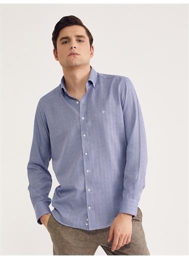 Bisse Gm 2027  Uk Paşa Yaka  Gömlek(E Tıcaret) Mavi